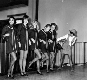 Mary Quant e modelos